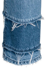 Straight High Cropped Jeans - Denim blue - Ladies | H&M 4