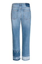 Straight High Cropped Jeans - Bleu denim - FEMME | H&M BE 3