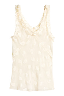 Silk-blend sleeveless top