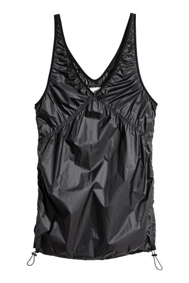 Nylon top - Black -  | H&M