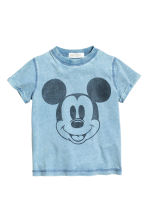 Printed T-shirt - Blue/Mickey Mouse - Kids | H&M CN 2