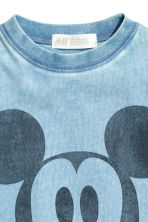 Printed T-shirt - Blue/Mickey Mouse - Kids | H&M 3