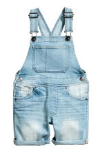Dungaree shorts - Light denim blue - Kids | H&M 2