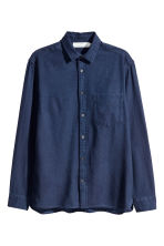 Camicia in cotone Regular fit - Blu denim scuro -  | H&M IT 2