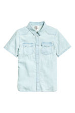 Denim shirt - Pale denim blue - Kids | H&M 2