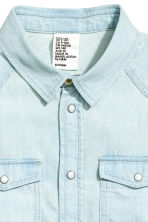 Denim shirt - Pale denim blue - Kids | H&M 3