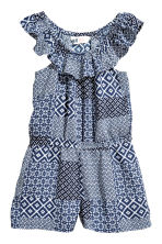 Playsuit - Dark blue/Patterned -  | H&M 2