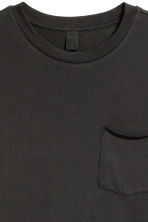T-shirt with a chest pocket - Black - Men | H&M 3