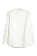 Grandad shirt Regular fit - White - Men | H&M 1