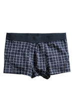 3-pack boxer shorts - Dark blue/Checked - Men | H&M CN 3