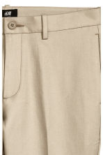 Pantalon en coton Slim fit - Beige clair - HOMME | H&M BE 3