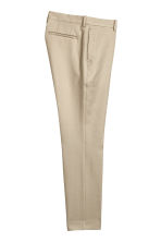 Pantalon en coton Slim fit - Beige clair - HOMME | H&M BE 2