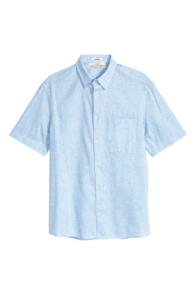 Short-sleeve shirt Regular fit - Light blue - Men | H&M 1