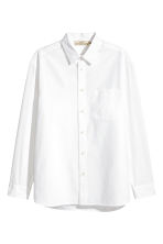 Cotton shirt Relaxed fit - White - Men | H&M 2
