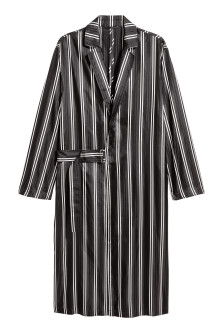 Wrapover silk coat