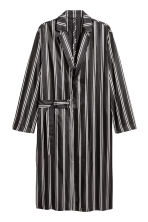 Wrapover silk coat - Black/Striped - Men | H&M 1
