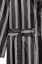 Wrapover silk coat - Black/Striped - Men | H&M 2