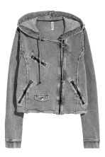 Sweatshirt jacket - Grey - Ladies | H&M 3