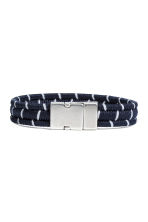 Striped bracelet - Dark blue - Men | H&M 1