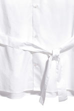 Cotton shirt with a tie belt - White - Men | H&M 3