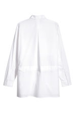 Cotton shirt with a tie belt - White - Men | H&M 2