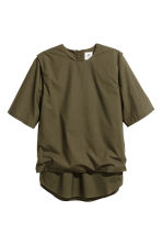 Double-layered T-shirt - Dark khaki green - Men | H&M CN 1