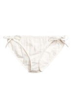 Bikini bottoms with lace  - White - Ladies | H&M CN 1