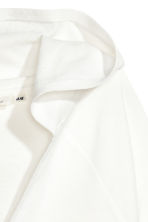 Hooded V-neck top - White - Ladies | H&M 3