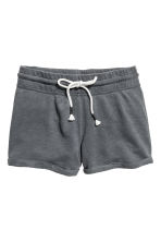 Slub jersey shorts - Dark grey marl - Ladies | H&M CN 2