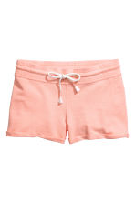Slub jersey shorts - Powder pink - Ladies | H&M 2
