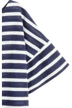 Short-sleeved top - Dark blue/Striped - Ladies | H&M GB 3