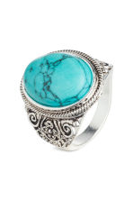 Ring - Silver/Turquoise - Men | H&M 1