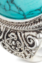 Ring - Silver/Turquoise - Men | H&M 2