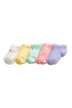 5-pack shaftless socks - Mint green - Kids | H&M 1