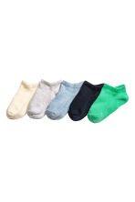 5-pack shaftless socks - Green - Kids | H&M 1