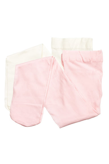 2-pack thin tights - Light pink - Kids | H&M 1