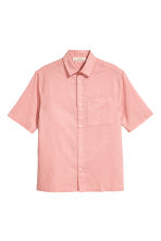 Linen-blend shirt - Dusky pink - Men | H&M CN 2