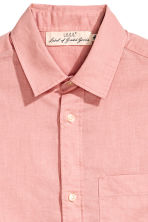 Linen-blend shirt - Dusky pink - Men | H&M CN 3