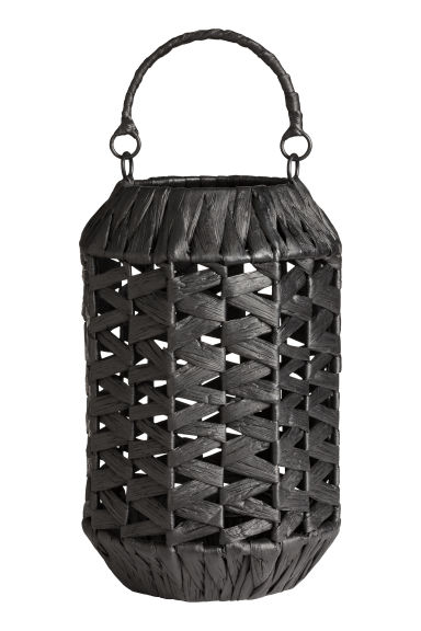Large candle lantern - Anthracite grey - Home All | H&M CN 1