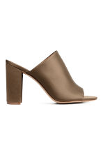 Peep-toe mules - Khaki - Ladies | H&M CN 2