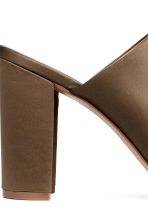 Peep-toe mules - Khaki - Ladies | H&M CN 5