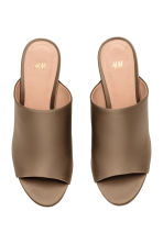 Peep-toe mules - Khaki - Ladies | H&M CN 3