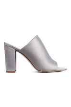 Peep-toe mules - Light grey - Ladies | H&M CN 2