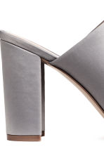 Peep-toe mules - Light grey - Ladies | H&M CN 5