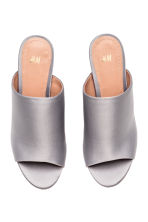 Peep-toe mules - Light grey - Ladies | H&M CN 3
