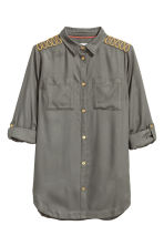 Viscose shirt - Khaki green -  | H&M CA 2
