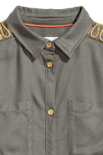 Viscose shirt - Khaki green -  | H&M CA 3