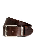 Leather belt - Dark brown - Men | H&M 1