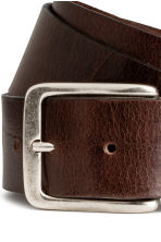 Leather belt - Dark brown - Men | H&M 2