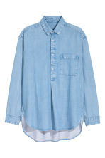 Long denim shirt - Light denim blue -  | H&M CN 2